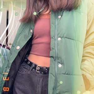 FOREVER 21 FOREST GREEN puffy jacket